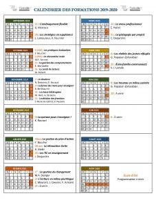 ContinuUM calendrier 2019-2020